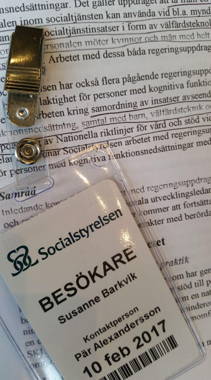 Besök på Socialstyrelsen om Kognition